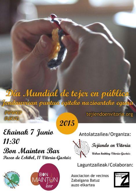 Tejiendo en Vitoria, Día mundial de Tejer en Público